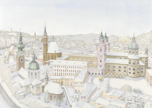 Salzburg, view from Hohensalzburg 2019
