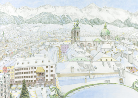 Innsbruck, view from the city tower 2020